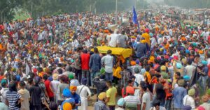 Farmers Agitated over demands not being heard